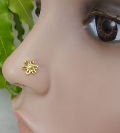 925 Sterling Silver StudFlower Nose RingIndian by TheEthnicJewels