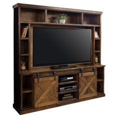 Loon Peak Pullman Entertainment Center for TVs up to 70 inches Color: Aged Whiskey Legends Furniture, Aged Whiskey, Hemnes, Diy Entertainment Center, Tv Stands, Rustic Design, Home Theater, Interior Styling, Interior Ideas