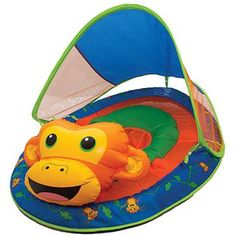 Introduce your baby to the water with the SwimWays Baby Spring Float Animal Friends baby float. The brightly colored, super cute, and totally huggable anima Sun Canopy, Baby Canopy, Cute Babies, Baby Kids, Baby Float, Pet Monkey, Learn To Swim, Water Toys, Animal Heads