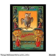 Vintage Halloween Owl