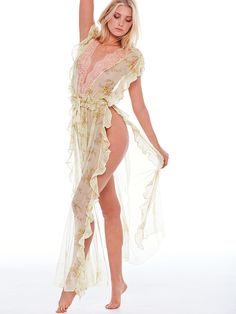 What can we say? We feel pretty. | The Victoria's Secret Designer Collection Chiffon Ruffle Robe