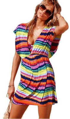 Colorful Swimsuit Cover Up Only $6.37 + FREE Shipping!