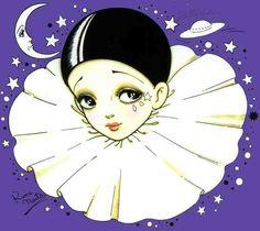 Feh Yes Vintage Manga Pretty Art, Cute Art, Illustrations, Illustration Art, Clown Paintings, Pierrot Clown, Character Art, Character Design, Cute Clown