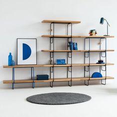GROP SINGLE regał modułowy w stylu bauhaus polski design Mebloscenka Bauhaus, Shelving, Loft, House, Design, Home Decor, Ideas, Shelves, Decoration Home