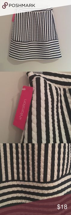 """NWT Striped skirt Gorgeous morons Striped skirt. Great with a solid colored top or mix with a fun print! New with tags. Size XS. 18"""" length, 26"""" waist. ❌❌no trades! Xhilaration Skirts"""