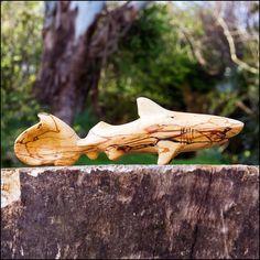 Hand carved wooden tiger shark spoon. by SylvestrisCraftworks, £68.50