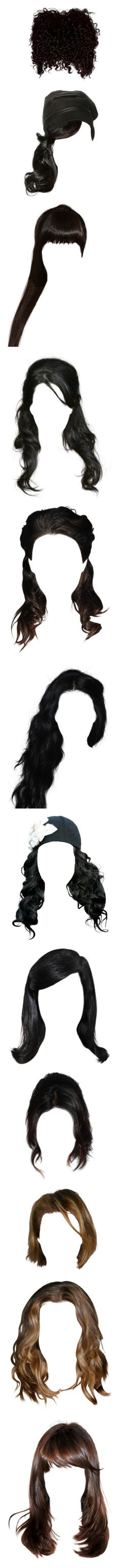 """""""HaiRR - Hair"""" by bananakill ❤ liked on Polyvore featuring beauty products, haircare, hair styling tools, hair, doll hair, hairstyle, wigs, filler, doll parts and dolls"""