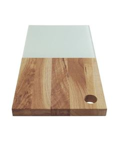 This attractive and durable oak cutting board with glass is an excellent material for cutting and...