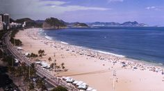 A panoramic view of Praia dos Pepinos, located in Sao Conrado.