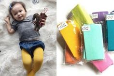 Baby tights to protect those adorable legs this winter