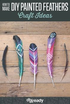 How to Make DIY Painted Feathers by DIY Ready at http://diyready.com/diy-painted-feathers/