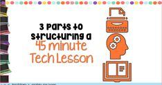 Hey tech teacher friends! I recently did a Facebook Live video with my 3 components of structuring a 45 minute technology lesson. In the ...