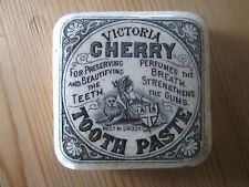 VERY RARE SQUARE VICTORIA CHERRY TOOTHPASTE POT LID