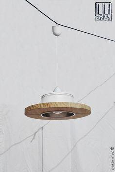 Lámpara de techo  hecha a mano color blanco .... por ILIUI en Etsy