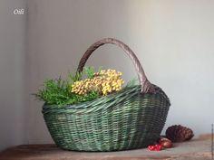 Купить Корзина Пасхальная - корзина плетеная, пасхальная корзина, корзина для фруктов, уют в доме, интерьер