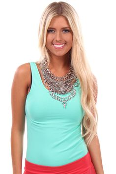 Lime Lush Boutique - Antique Silver Chain and Diamond Statement Necklace, $46.99 (http://www.limelush.com/antique-silver-chain-and-diamond-statement-necklace/)