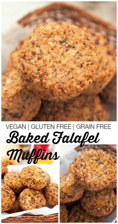 Baked Falafel Muffins- These #healthy, crispy, high protein baked falafel muffins are completely #vegan and #glutenfree! Naturally low in fat, these healthy savoury bites are low in fat and the perfect snack or meal addition.