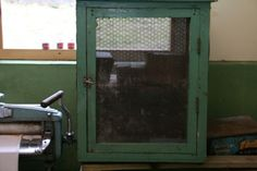 An old meat safe similar to what we had on the outside wall - before we had a fridge!