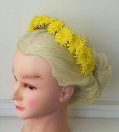 """Купить Ободок для волос """"Одуванчики"""" - ободок для волос, ободок с цветами, ободок с одуванчиками, украшения для волос"""