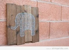 Elephant String Art | String Art DIY | Free patterns and templates to make your…
