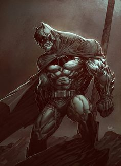 Batman Dark knight 2 by Raciel Avila on ArtStation. Batman Painting, Batman Artwork, Batman Wallpaper, Batman Comic Art, Batman The Dark Knight, Batman Dark, I Am Batman, Batman Stuff, Gotham Batman