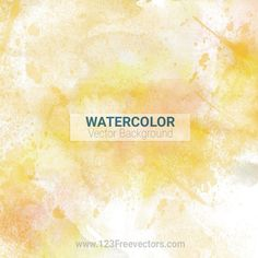 Yellow Watercolor Background Free
