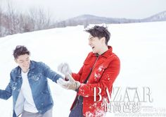 Hu Ge, Wallace Huo in BAZAAR magazine for Valentine's Day