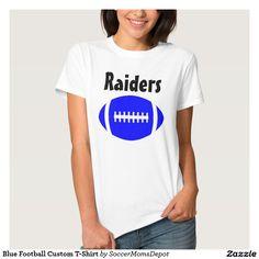 #Blue #Football #Custom Women's #T-Shirt