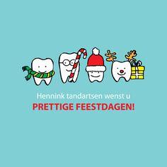 kertskaart Hennink tandartsen christmas card dentist