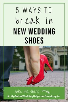 How to break in new shoes. 5 ways to save your wedding feet from pain, Plus, which are safer. Read them all on the MyOnlineWeddingHelp.com blog. Wedding Planning Tips, Wedding Tips, Sparkly Wedding Shoes, Lace Wedding, Bunion Pads, Breaking In Shoes, Shoe Stretcher, How To Stretch Shoes, Types Of Shoes