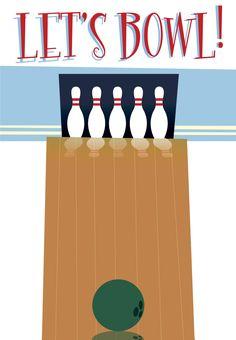 Free Printable Bowling Party Invitation