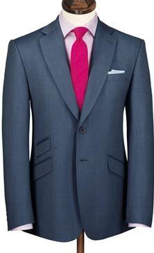 Airforce birdseye Yorkshire worsted slim fit luxury suit jacket