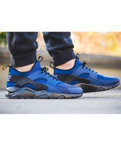 buy online 7f0e1 88004 Chaussure Nike Huarache Bleu Côtier Noir
