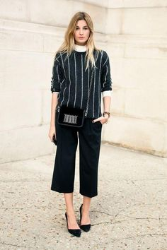 Turtleneck outfit idea: layer under a favorite top and wear with trousers (click for 14 more!)