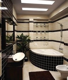 latest modern bathroom tile design catalog for 2019 new home, including tile colors and bathroom wall tile patterns which is considered the best home interior design trends 2019 Modern Bathtub, Modern Bathroom Tile, Bathroom Tile Designs, Bathroom Design Luxury, Bathroom Kids, Bathroom Wall Decor, Bathroom Layout, Small Bathroom, Small Tub