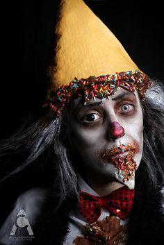 Halloween makeup   Ice Cream Clown - Inspired by FaceOff by Amanda Chapman https://www.facebook.com/amandachapmanphotography