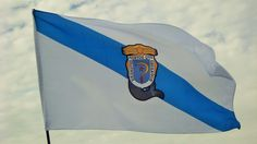 Galician Flag wit the Castelao's Coat of Arms - Rather Dead than Slaves