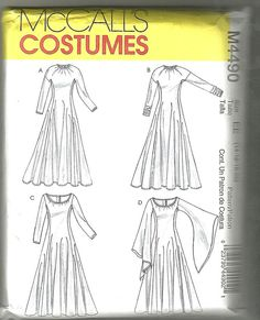 McCalls 4490 Gothic renaissance costume sewing by NoodlesNotions, $12.00