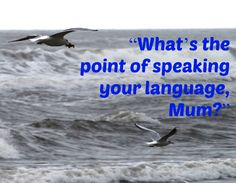 http://multilingualparenting.com/2013/10/23/whats-the-point-of-speaking-your-language-mum/ How to answer this difficult question?