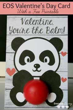 Valentine's Day is just around the corner and you will love these cute free printable cards, made to hold those cool EOS lip balms.