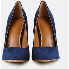 Suede Chunky Heel Pumps BLUE (63 BAM) ❤ liked on Polyvore featuring shoes, pumps, wide heel shoes, suede pumps, blue color shoes, blue suede shoes and chunky heel shoes