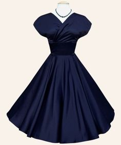 Can't tell if it is navy or black but this is a great swing dance style dress