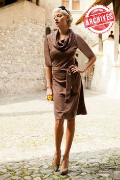 Bampton Dress Brown