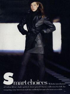Tatjana Patitz by Patrick Demarchelier - Us Vogue June 1987