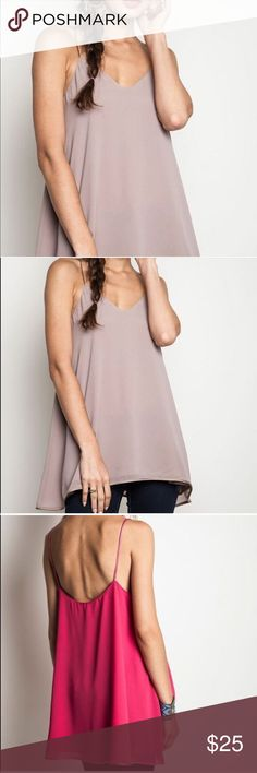Spaghetti Strap Tank, Tunic, Tunic Shirt, Tank Top This price is firm.  Spaghetti strap classy tank. Looks great with a shirt extender. taupe.  This is for the taupe color. Tunic Tops Tank Tops