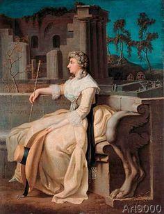 Johann Heinrich Wilhelm Tischbein - Anna Amalia Among the Ruins of Pompeii.