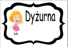 dyzurna plansza Montessori, Diy And Crafts, Kindergarten, How To Plan, Education, Math, School, Fictional Characters, Speech Language Therapy