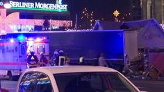Footage from the scene after a truck ploughed into people at a Christmas market in Berlin, Germany.