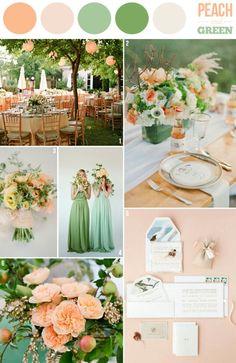 Peach and green theme♡