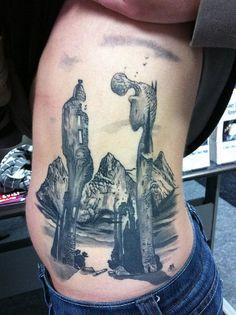 Salvador Dali Tattoo by Vince Wishart